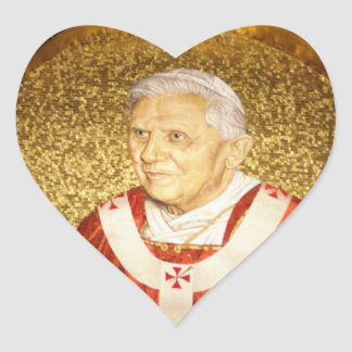 Benedict XVI - B16 Heart Sticker