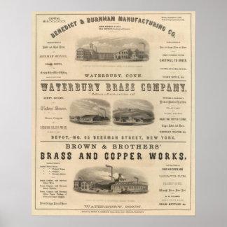 Benedict y Burnham Manufacturing Company Poster