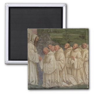 Benedictine Monks, from the Life of St. Benedict ( 2 Inch Square Magnet