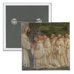 Benedictine Monks, from the Life of St. Benedict ( 2 Inch Square Button