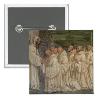 Benedictine Monks, from the Life of St. Benedict ( Button