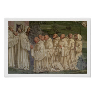 Benedictine Monks, from the Life of St. Benedict ( Poster