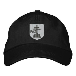 benedictines coat of arms embroidered baseball cap