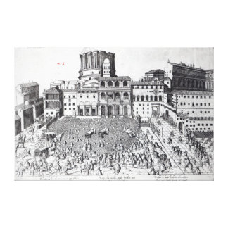 Benediction of The Pope in St.Peter's Square Canvas Print