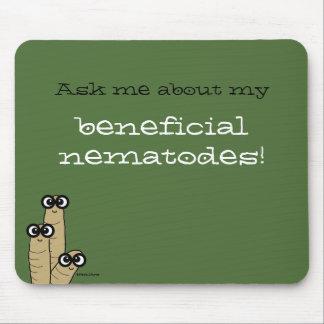 Beneficial Nematodes Garden Science Humor Green Mouse Pad