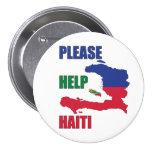 Beneficio a - ayude por favor a Haití Pin