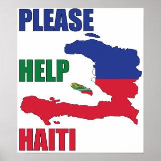 Beneficios a - ayude por favor a Haití Póster