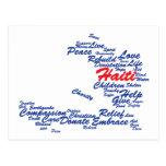 Beneficios - al mapa de la etiqueta de Haití Tarjetas Postales
