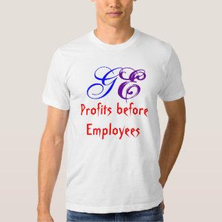 Beneficios ante los empleados, GE Camisas