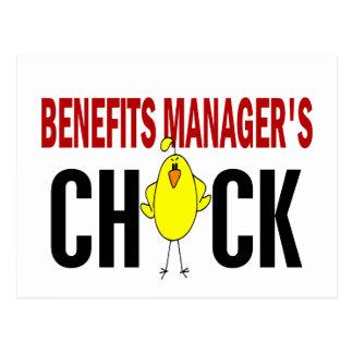 BENEFITS MANAGER'S CHICK POSTCARD