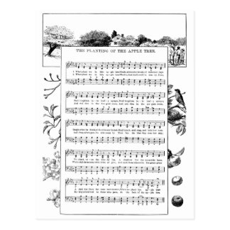 Benefits of Apple Trees Song Postcard