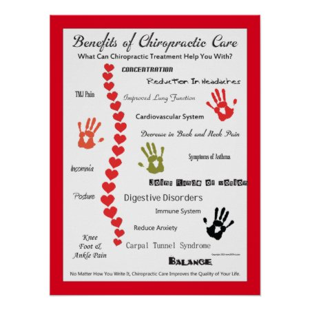 Benefits of Chiropractic Care Poster Customize