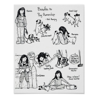 Benefits To Pug Ownership Poster