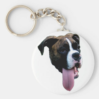 Benelli the Boxer Dog Basic Round Button Keychain