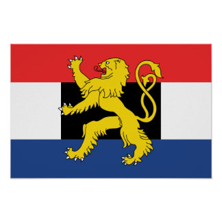Benelux Flag Poster