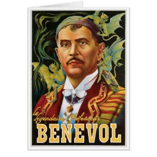 Benevol ~ Italian Magician Vintage Magic Ad Card