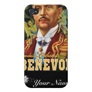 Benevol ~ Italian Magician Vintage Magic Ad Cases For iPhone 4