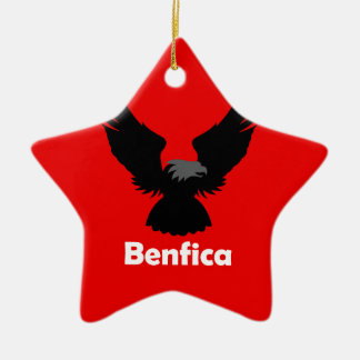 Benfica Double-Sided Star Ceramic Christmas Ornament