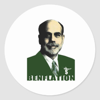 Benflation Classic Round Sticker