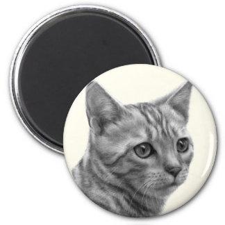 Bengal Cat 2 Inch Round Magnet