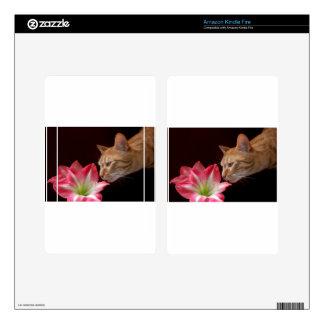 Bengal Cat Amaryllis Digital Photograph Kindle Fire Skins