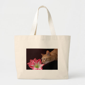 Bengal Cat Amaryllis jjhelene Photograph Large Tote Bag