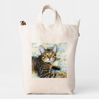 Bengal Cat Art Duck Bag
