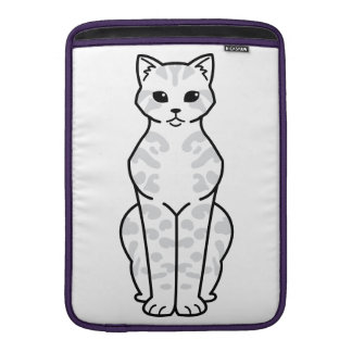 Bengal Cat Cartoon MacBook Sleeves