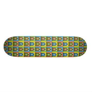 Bengal Cat Cartoon Pop-Art Skateboard Deck