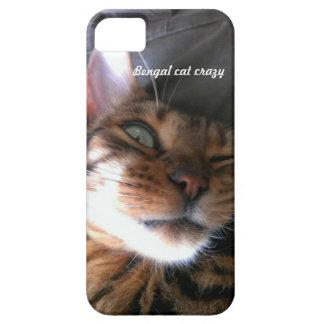 Bengal cat crazy iPhone case