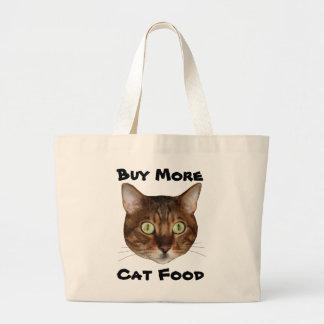 Bengal Cat Head Large Tote Bag