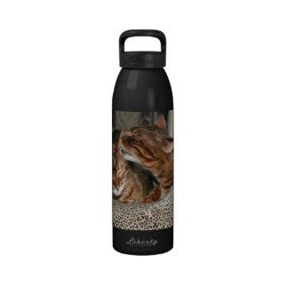 Bengal Cat Kiss Reusable Water Bottles