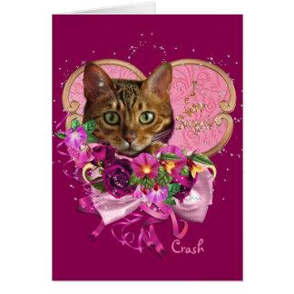 Bengal Cat Love Greeting Card