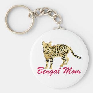 Bengal Cat Mom Basic Round Button Keychain