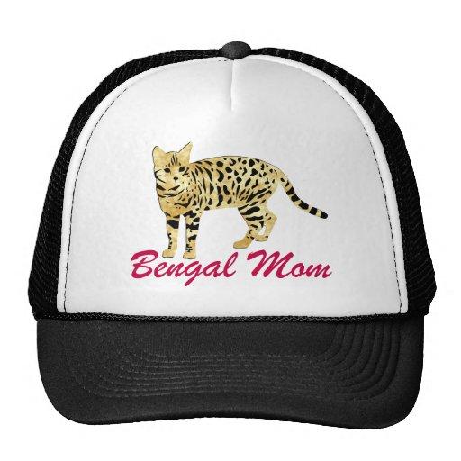 Bengal Cat Mom Mesh Hats