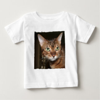 Bengal Cat Portrait with torn frame Baby T-Shirt