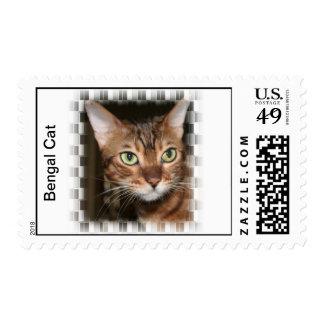 Bengal Cat Postage Stamp