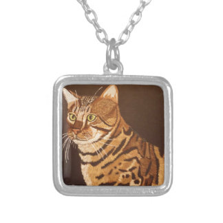 Bengal Cat Silver Plated Necklace