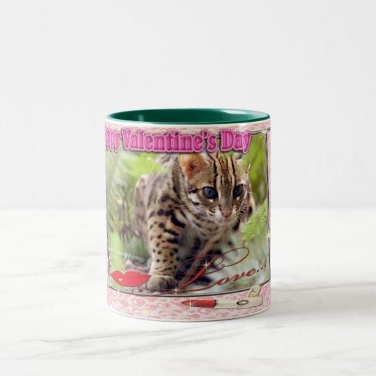 Bengal Cat Valentine Mugs