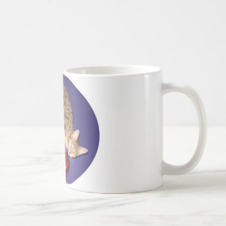 Bengal cat with dumbbell coffee mug