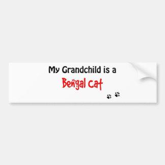 Bengal Grandchild Bumper Sticker