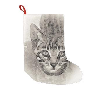 Bengal Kitten Drawing Small Christmas Stocking