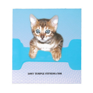 Bengal Kitten with Dumbbell blue Memo Notepads