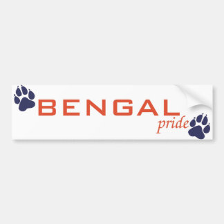 BENGAL pride Bumper Sticker