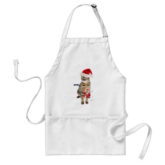 Bengal Santa gifts Adult Apron