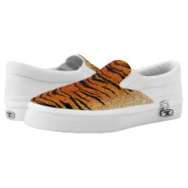 Bengal Tiger Animal Fur Slip-On Sneakers