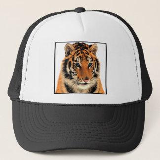 Bengal Tiger Animal Print Blue Eye Trucker Hat