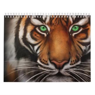 Bengal Tiger Animal Print Eye 2014 Calendar