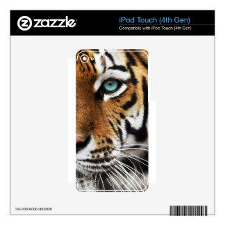 Bengal Tiger Animal Print Eye iPod Touch 4G Skins