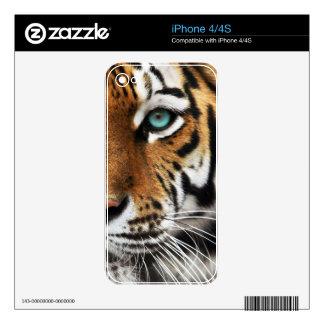 Bengal Tiger Animal Print Eye Skin For iPhone 4S